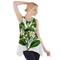 Bitter Branch Citrus Edible Floral Side Drop Tank Tunic