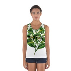 Bitter Branch Citrus Edible Floral Sport Tank Top