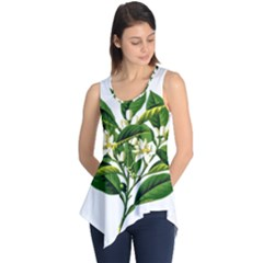 Bitter Branch Citrus Edible Floral Sleeveless Tunic