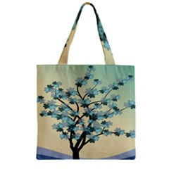 Branches Field Flora Forest Fruits Zipper Grocery Tote Bag by Nexatart