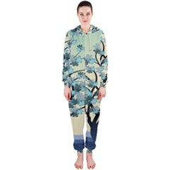 Branches Field Flora Forest Fruits Hooded Jumpsuit (ladies)  by Nexatart