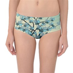 Branches Field Flora Forest Fruits Mid Waist Bikini Bottoms