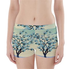 Branches Field Flora Forest Fruits Boyleg Bikini Wrap Bottoms