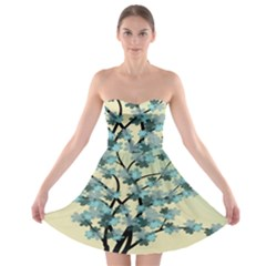 Branches Field Flora Forest Fruits Strapless Bra Top Dress