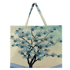 Branches Field Flora Forest Fruits Zipper Large Tote Bag by Nexatart