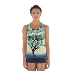 Branches Field Flora Forest Fruits Sport Tank Top