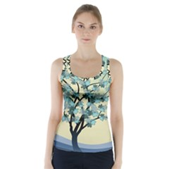 Branches Field Flora Forest Fruits Racer Back Sports Top