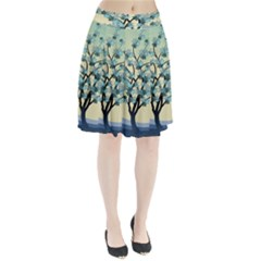 Branches Field Flora Forest Fruits Pleated Skirt