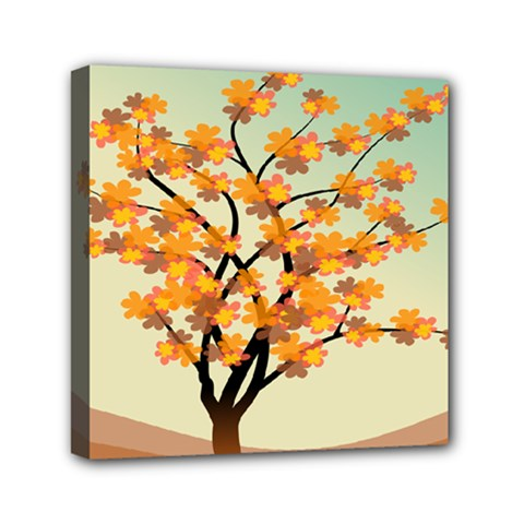 Branches Field Flora Forest Fruits Mini Canvas 6  X 6