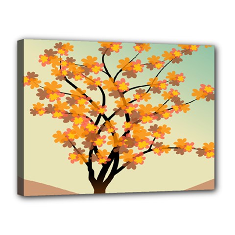 Branches Field Flora Forest Fruits Canvas 16  X 12  by Nexatart