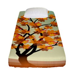Branches Field Flora Forest Fruits Fitted Sheet (single Size) by Nexatart