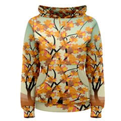 Branches Field Flora Forest Fruits Women s Pullover Hoodie