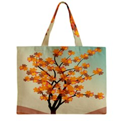 Branches Field Flora Forest Fruits Zipper Mini Tote Bag