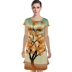 Branches Field Flora Forest Fruits Cap Sleeve Nightdress