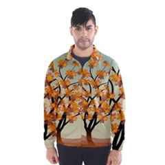 Branches Field Flora Forest Fruits Wind Breaker (men)