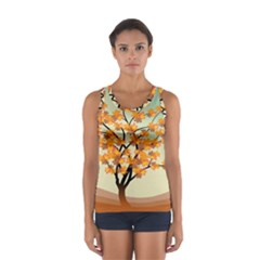 Branches Field Flora Forest Fruits Sport Tank Top  by Nexatart