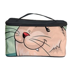 Cat Animal Fish Thinking Cute Pet Cosmetic Storage Case