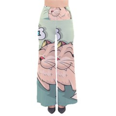 Cat Animal Fish Thinking Cute Pet Pants by Nexatart