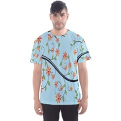 Branch Floral Flourish Flower Men s Sports Mesh Tee