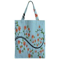 Branch Floral Flourish Flower Zipper Classic Tote Bag