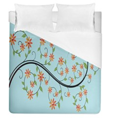 Branch Floral Flourish Flower Duvet Cover (queen Size)