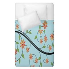Branch Floral Flourish Flower Duvet Cover Double Side (single Size)