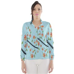 Branch Floral Flourish Flower Wind Breaker (women)