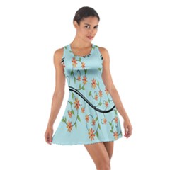 Branch Floral Flourish Flower Cotton Racerback Dress