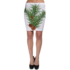 Branch Floral Green Nature Pine Bodycon Skirt