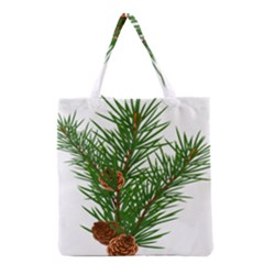 Branch Floral Green Nature Pine Grocery Tote Bag by Nexatart