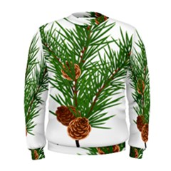 Branch Floral Green Nature Pine Men s Sweatshirt