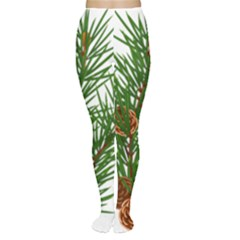 Branch Floral Green Nature Pine Women s Tights