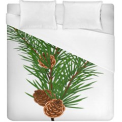 Branch Floral Green Nature Pine Duvet Cover (king Size)