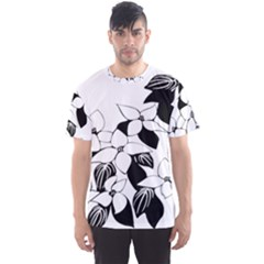Ecological Floral Flowers Leaf Men s Sports Mesh Tee
