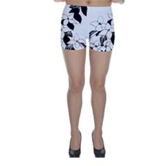 Ecological Floral Flowers Leaf Skinny Shorts