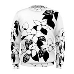 Ecological Floral Flowers Leaf Men s Sweatshirt