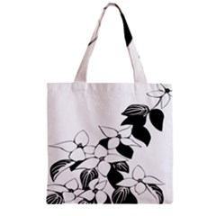 Ecological Floral Flowers Leaf Zipper Grocery Tote Bag by Nexatart