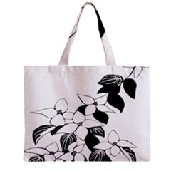Ecological Floral Flowers Leaf Zipper Mini Tote Bag by Nexatart