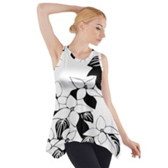 Ecological Floral Flowers Leaf Side Drop Tank Tunic
