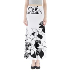 Ecological Floral Flowers Leaf Full Length Maxi Skirt