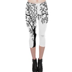 Flowers Landscape Nature Plant Capri Leggings