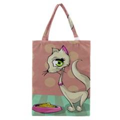 Cat Food Eating Breakfast Gourmet Classic Tote Bag