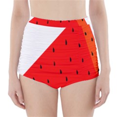 Fruit Harvest Slice Summer High Waisted Bikini Bottoms