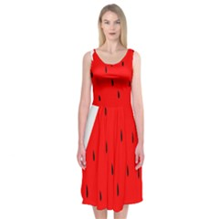 Fruit Harvest Slice Summer Midi Sleeveless Dress