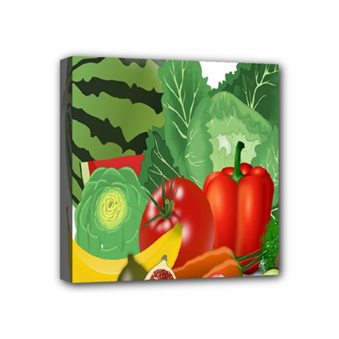 Fruits Vegetables Artichoke Banana Mini Canvas 4  X 4  by Nexatart