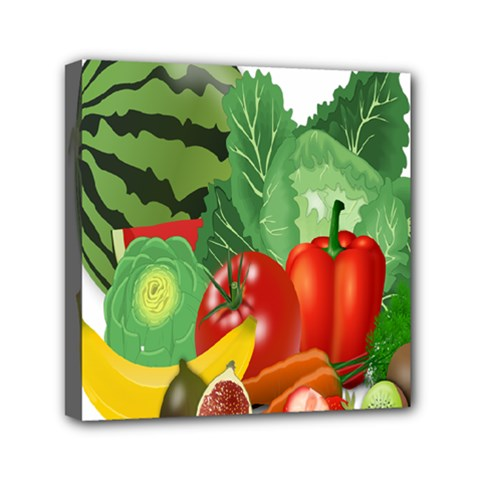 Fruits Vegetables Artichoke Banana Mini Canvas 6  X 6  by Nexatart