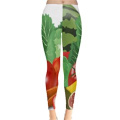Fruits Vegetables Artichoke Banana Leggings