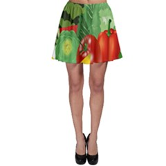 Fruits Vegetables Artichoke Banana Skater Skirt by Nexatart