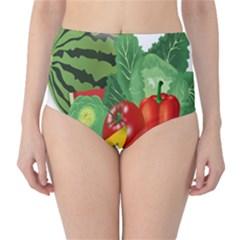 Fruits Vegetables Artichoke Banana High Waist Bikini Bottoms