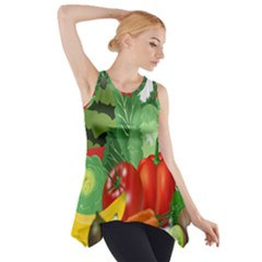 Fruits Vegetables Artichoke Banana Side Drop Tank Tunic